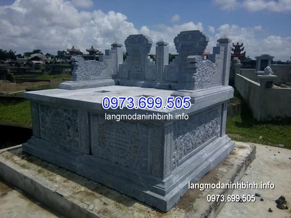 Mộ bành đá xanh khối đẹp nhất chất lượng tốt giá rẻ thiết kế đơn giản