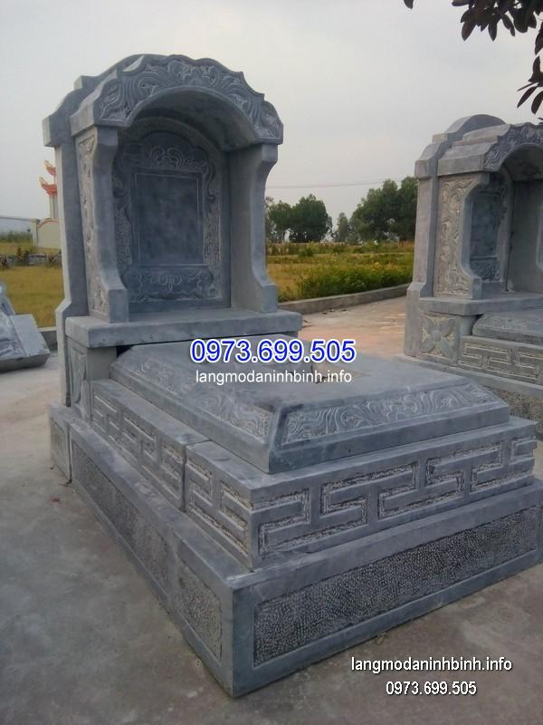 Mộ bành đá xanh khối đẹp nhất chất lượng tốt giá rẻ thiết kế hiện đại