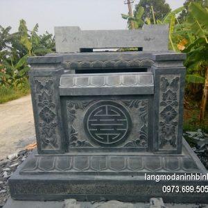 Mộ đá nguyên khối đẹp chất lượng cao giá hợp lý thiết kế hiện đại
