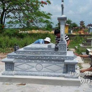 Mộ công giáo đá tự nhiên chạm khắc đẹp chất lượng tốt giá rẻ