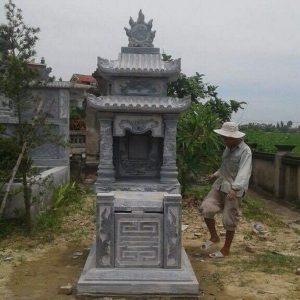 Mẫu mộ hai mái đá khối hoa văn đẹp chất lượng cao giá rẻ