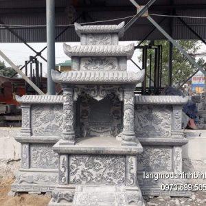 Mẫu mộ hai mái đá khối hoa văn đẹp chất lượng tốt giá tốt