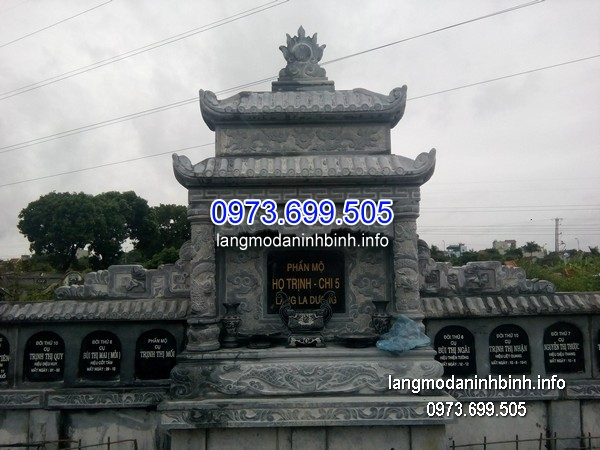 Mẫu mộ hai mái đá khối chạm trổ đẹp chất lượng cao giá rẻ