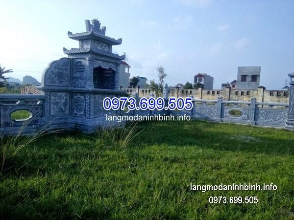 Mẫu mộ hai mái đá khối chạm trổ đẹp chất lượng tốt giá hợp lý
