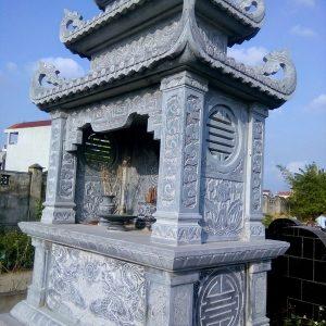 Mẫu mộ hai mái đá khối hoa văn tinh tế chất lượng cao giá rẻ