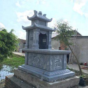 Mẫu mộ hai mái đá khối hoa văn tinh tế chất lượng cao giá tốt