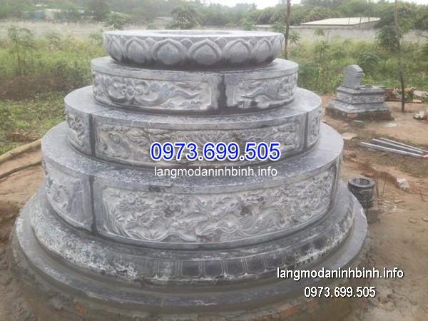 Mộ tròn từ đá tự nhiên chạm trổ đẹp chất lượng cao giá rẻ