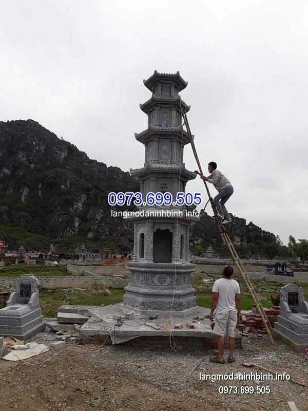 Mộ tháp đá tự nhiên hoa văn tinh tế chất lượng tốt giá tốt