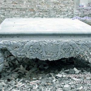 Sập đá xanh hoa văn tinh xảo chất lượng tốt giá hợp lý