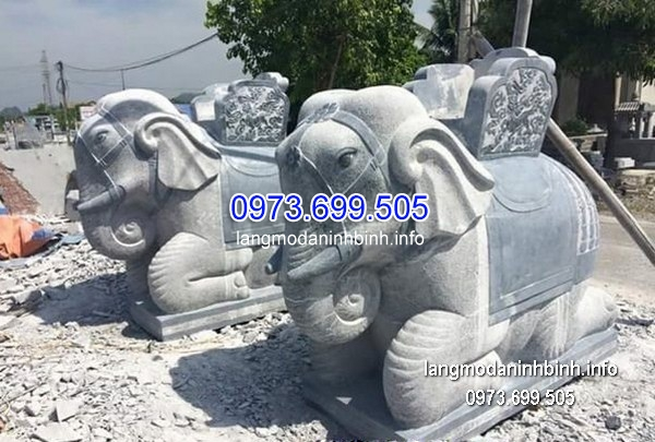 Tượng voi đá đẹp chất lượng cao giá rẻ