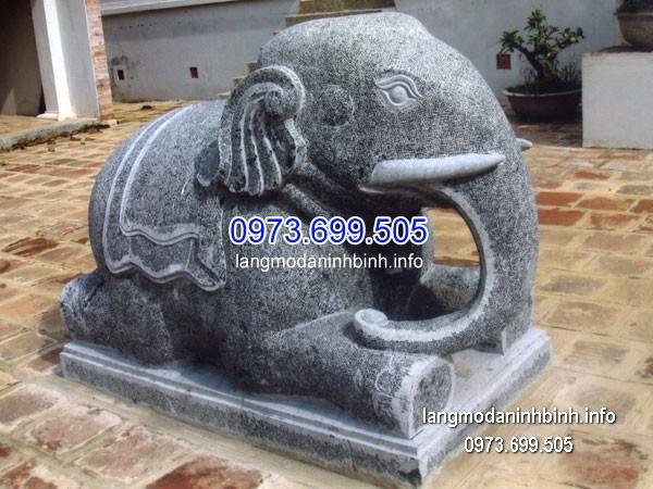 Tượng voi đá đẹp chất lượng tốt giá rẻ