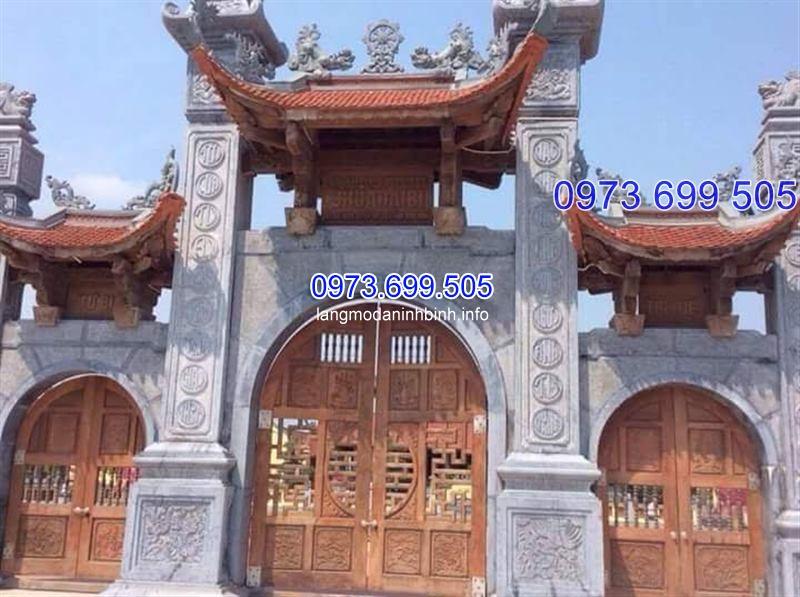 Cổng tam quan bằng đá ý nghĩa tâm linh trong các công trình kiến trúc việt