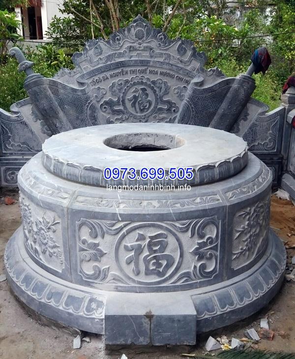 Các mẫu mộ tròn đá đẹp chuẩn phong thủy