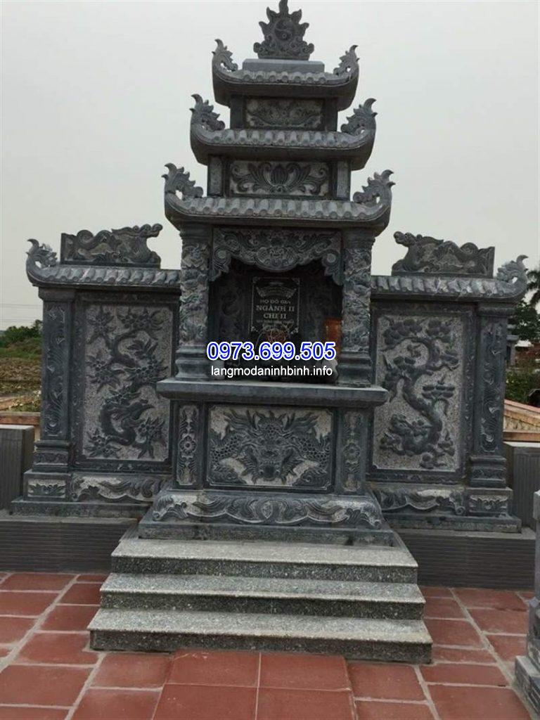 Lăng thờ đá đẹp chuẩn kích thước phong thủy