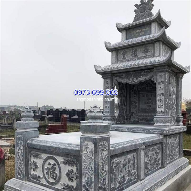 Mẫu mộ ba mái đá chất lượng tốt giá rẻ tại Ninh Bìnhh