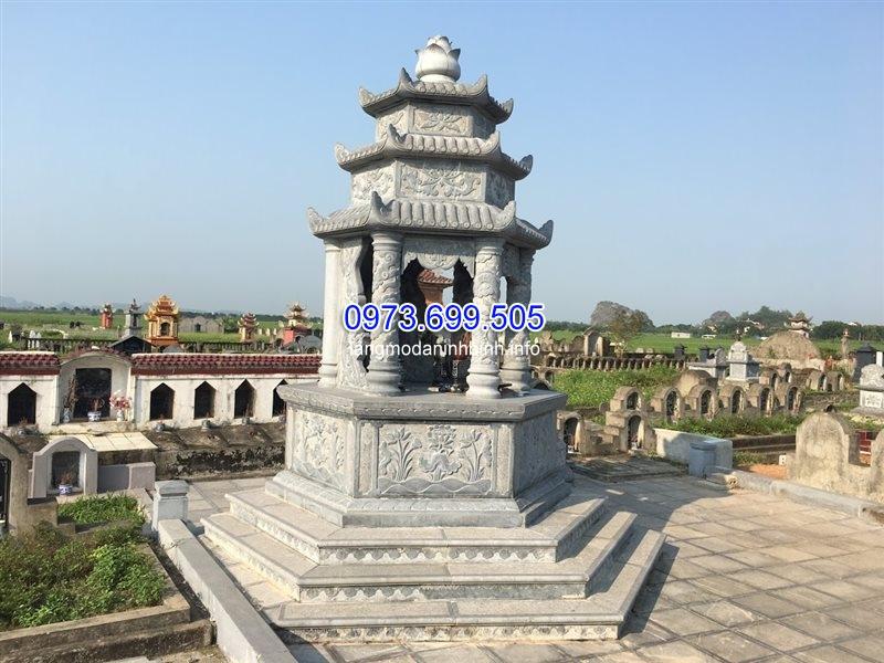 Mẫu mộ lục giác đá xanh giá rẻ tại Ninh Bình