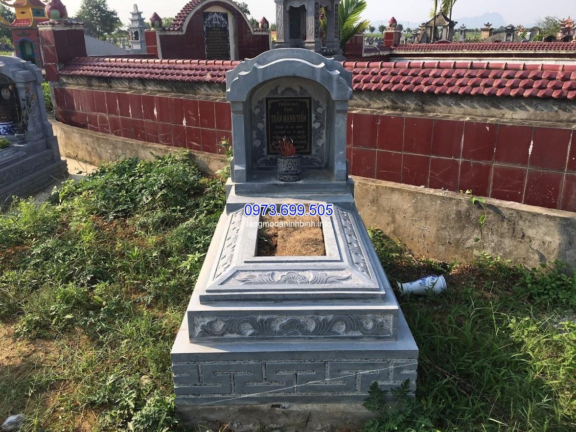 Mẫu mộ tam cấp bằng đá xanh đẹp nhất