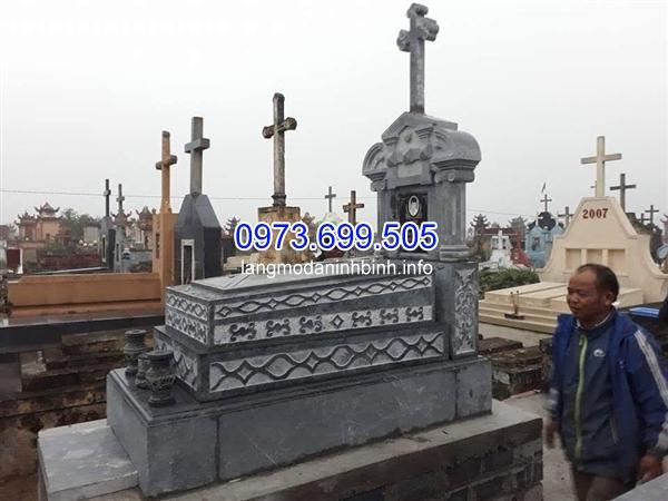 Nhận lắp đặt các mẫu mộ công giáo bằng đá tại các tỉnh thành uy tín và chất lượng