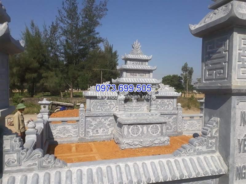 Cơ sở bán lăng thờ chung bằng đá giá rẻ tại Ninh Vân Ninh Bình