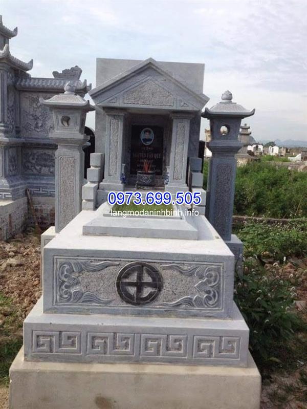 Xây mộ công giáo bằng đá đẹp tại Ninh Bình