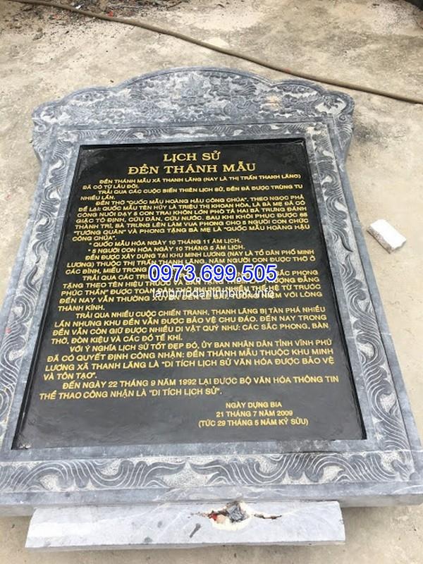 Bia đá khắc địa danh