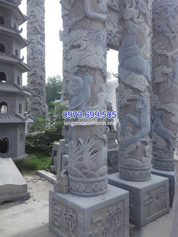 Mẫu cột đá tròn chân cột vuông