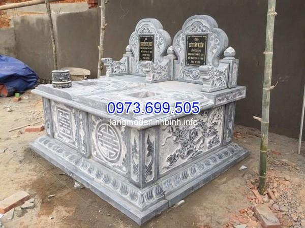 mộ đôi đá mỹ nghệ