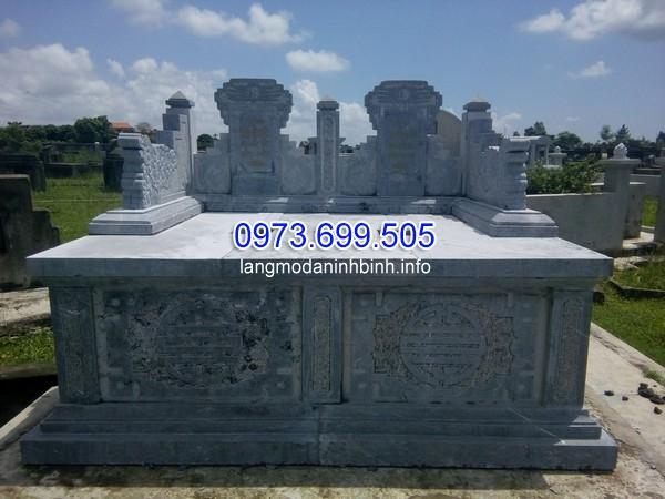 kích thước mộ đá đôi