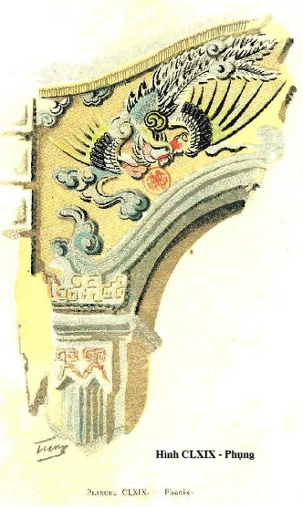 Hình Phụng trang trí trên cổng, cửa