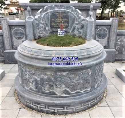 Mẫu mộ tròn bằng đá