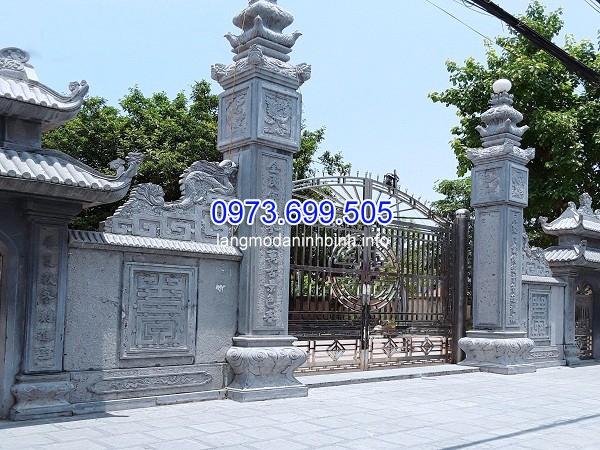 Cột cổng đá hình vuông