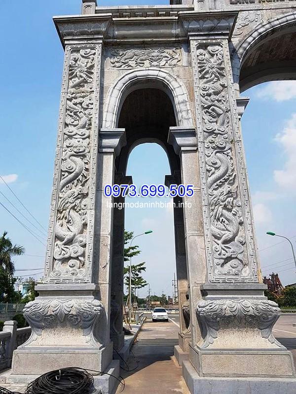 Mẫu cổng đá vuông lớn