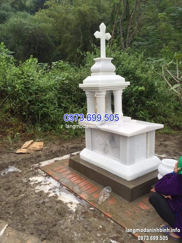 Mẫu mộ đá công giáo đơn giản 2019