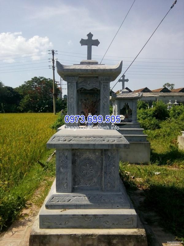 Mẫu mộ đá công giáo đơn giản