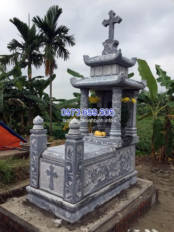 Mẫu mộ đá khối công giáo