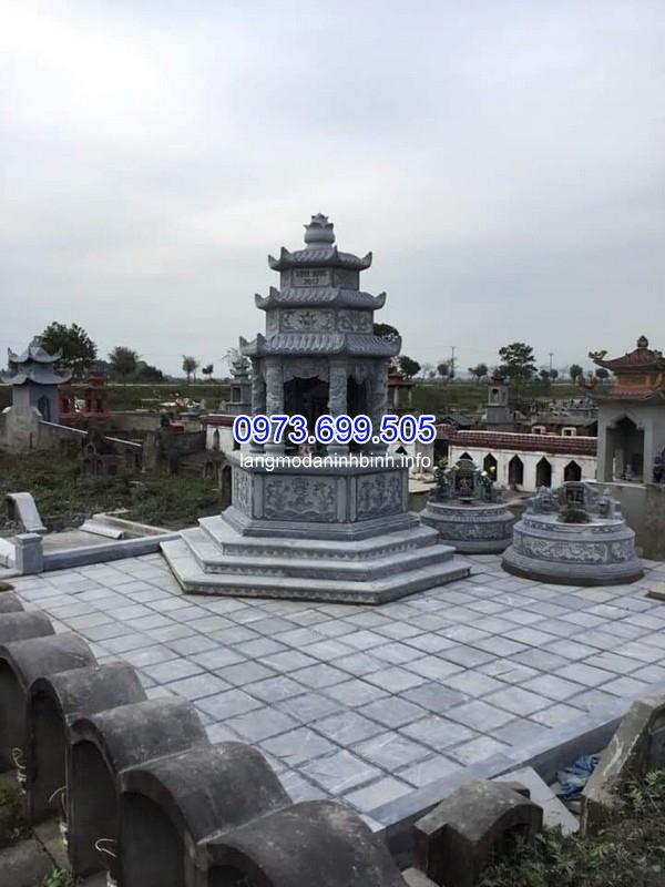 Mẫu mộ đá tháp điêu khắc tinh xảo