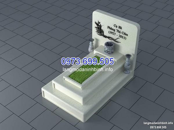 Bản thiết kế mẫu mộ đá màu trắng