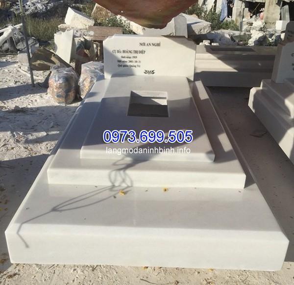 Mẫu mộ đá màu trắng đẹp