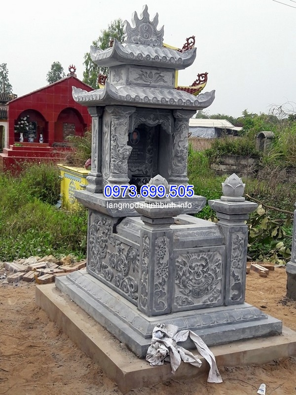Nhận thiết kế thi công mộ đá 3 mái ở Lâm Đồng uy tín chất lượng giá rẻ