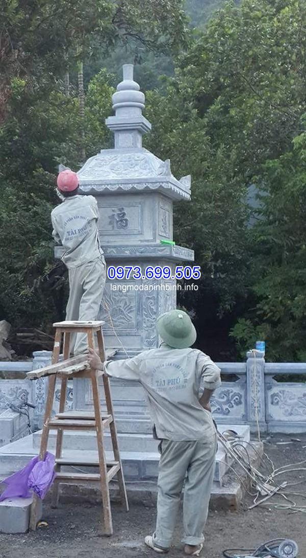 Lắp đặt mộ đá 2 mái ở Thái Nguyên chất lượng