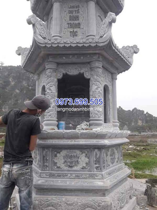 Xây mộ đá hoa cương ở Thái Nguyên chất lượng