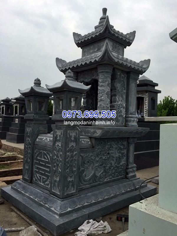 Thi công mộ đá ốp kim sa ở Thái Nguyên chất lượng