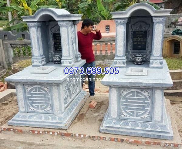 Nhận lắp đặt xây mộ đá hình tròn ở Thái Nguyên uy tín chất lượng giá rẻ