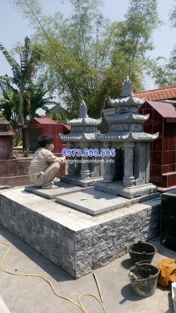 Nhận thiết kế thi công mộ đá 3 mái ở Thái Nguyên uy tín chất lượng giá rẻ