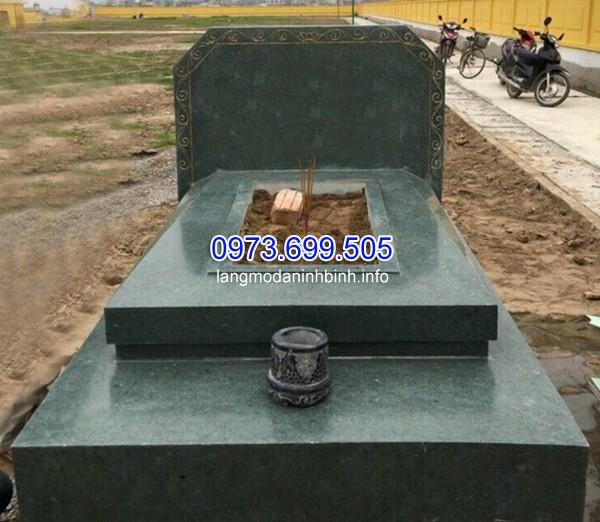 Xây mộ đá granite đơn giản