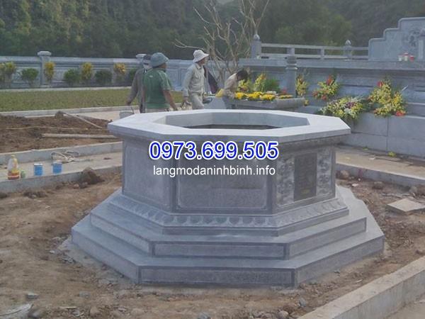 Xây mộ đá hình bát giác giá rẻ