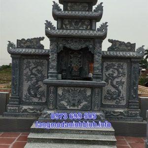 Lăng thờ chung bằng đá thiết kế tinh xảo chất lượng giá rẻ