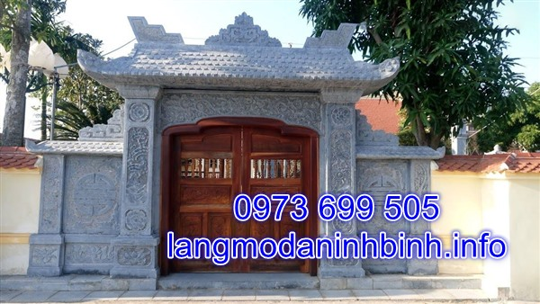 Mẫu cổng nhà bằng đá đẹp nhất hiện nay