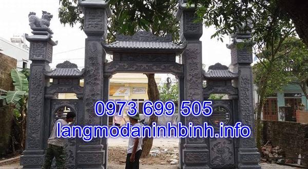 Mẫu cổng tam quan đá đình chùa đẹp