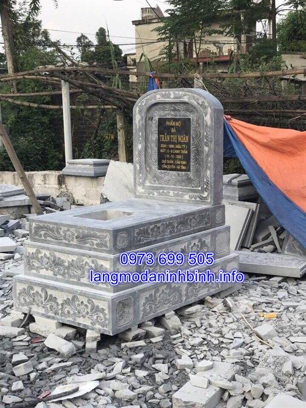 Xây mộ tam cấp bằng đá xanh Thanh Hóa